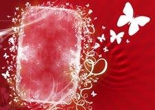 Rotes mit Blumenfeld Lizenzfreie Stockfotos