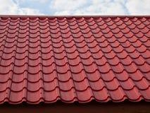 Rotes modernes Dach Lizenzfreies Stockbild