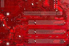 Rotes Motherboard Stockfotos