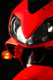 Rotes Motorrad Lizenzfreies Stockbild