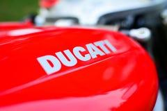 Rotes Motorrad Ducati 996s Lizenzfreies Stockbild