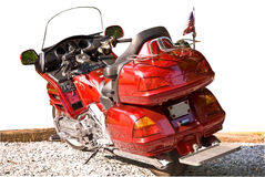 Rotes Motorrad trennte Lizenzfreies Stockfoto