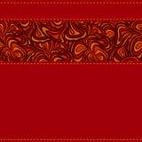 Rotes Muster mit Streifen der abstrakten Auslegung Stockbilder