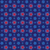 Rotes nahtloses 3d prägte Blumenmusterhintergrund für Tapete, Muster, Netz, Blog, Oberfläche, Beschaffenheiten, Grafik u. Drucken Lizenzfreie Stockfotografie