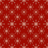 Rotes nahtloses Schneeflockenmuster Lizenzfreie Stockbilder