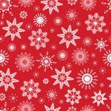 Rotes nahtloses Schneeflockenmuster Es kann für Leistung der Planungsarbeit notwendig sein Gute Wahl für Winterurlaube entwerfen, lizenzfreie abbildung