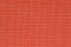 Rotes natürliches Baumwollgewebe Aida-Beschaffenheit für den Hintergrund Lizenzfreies Stockbild