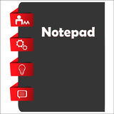 Rotes Navigationsmenü der Webseite mit Ikonen Lizenzfreie Stockfotografie