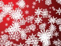Rotes neues der Schneeflocke Stockfotografie