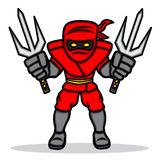 Rotes ninja Stockbild