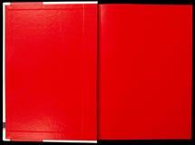 Rotes Notizbuch Stockbild