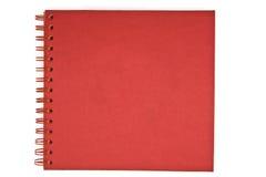 Rotes Notizbuch lizenzfreies stockbild