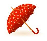 Rotes ofumbrella für eine Auslegung Stockfotos