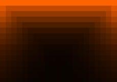 Rotes orange quadratisches Muster in der Farbe geometrisch stock abbildung