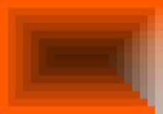 Rotes orange quadratisches Muster in der Farbe geometrisch lizenzfreie abbildung