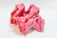 Rotes Papier eine Kugel. lizenzfreie stockfotografie