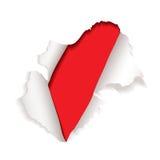 Rotes Papierloch explodieren Lizenzfreie Stockfotos