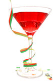 Rotes Party-Cocktail Lizenzfreie Stockbilder