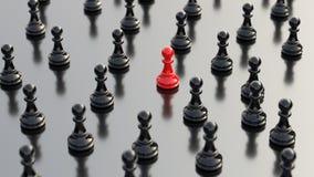 Rotes Pfand des Schachs Lizenzfreie Stockfotos