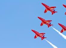 Rotes Pfeil-Bildschirmanzeige-Team Stockfoto
