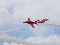 Rotes Pfeil-Flugveranstaltungs-Team Lizenzfreie Stockfotos