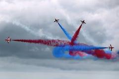 Rotes Pfeil-Flugveranstaltungs-Team Lizenzfreie Stockbilder