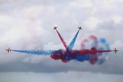 Rotes Pfeil-Flugveranstaltungs-Team Stockbild