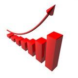 Rotes Pfeil-Geschäft Vektor Abbildung