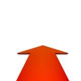 Rotes Pfeildiagramm des Vektors Lizenzfreie Stockfotos