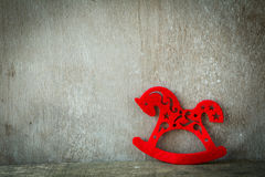 Rotes Pferd - neues Jahr 2014 Lizenzfreie Stockbilder