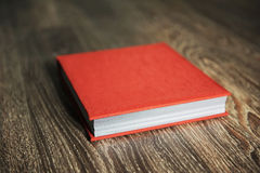 Rotes Photobook Stockfotografie