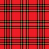 Rotes Plaid-Muster Lizenzfreie Stockfotos