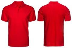 Rotes Polohemd, Kleidung Stockfotografie