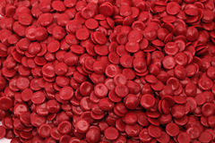 Rotes Polymer lizenzfreie stockbilder