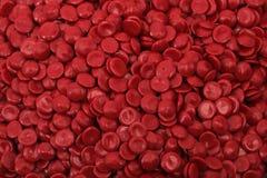 Rotes Polymer stockfotografie