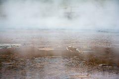 Rotes Pool des Dampfs Stockbilder