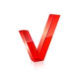 Rotes Prüfzeichen Vektor Lizenzfreie Stockfotos