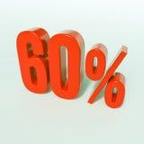 Rotes Prozent-Zeichen Lizenzfreies Stockfoto