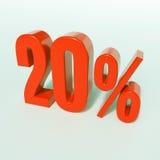 Rotes Prozent-Zeichen Lizenzfreie Stockfotografie