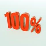 Rotes Prozent-Zeichen Stockbilder