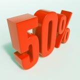 Rotes Prozent-Zeichen Stockfotos