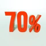 Rotes Prozent-Zeichen Stockbild