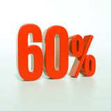 Rotes Prozent-Zeichen Stockfoto