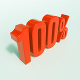 Rotes Prozent-Zeichen Stockfotografie