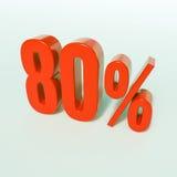 Rotes Prozent-Zeichen Lizenzfreies Stockbild