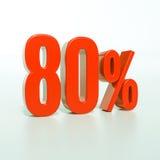 Rotes Prozent-Zeichen Lizenzfreie Stockfotos