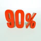 Rotes Prozent-Zeichen Lizenzfreie Stockbilder