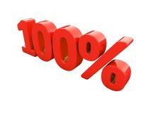 Rotes Prozent-Zeichen lokalisiert Stockbilder