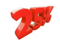 Rotes Prozent-Zeichen lokalisiert Stockbild