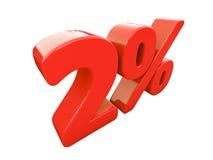 Rotes Prozent-Zeichen lokalisiert Stockfotos